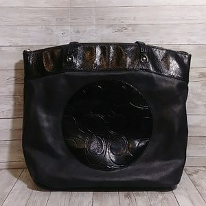 Coach Laura leather tote